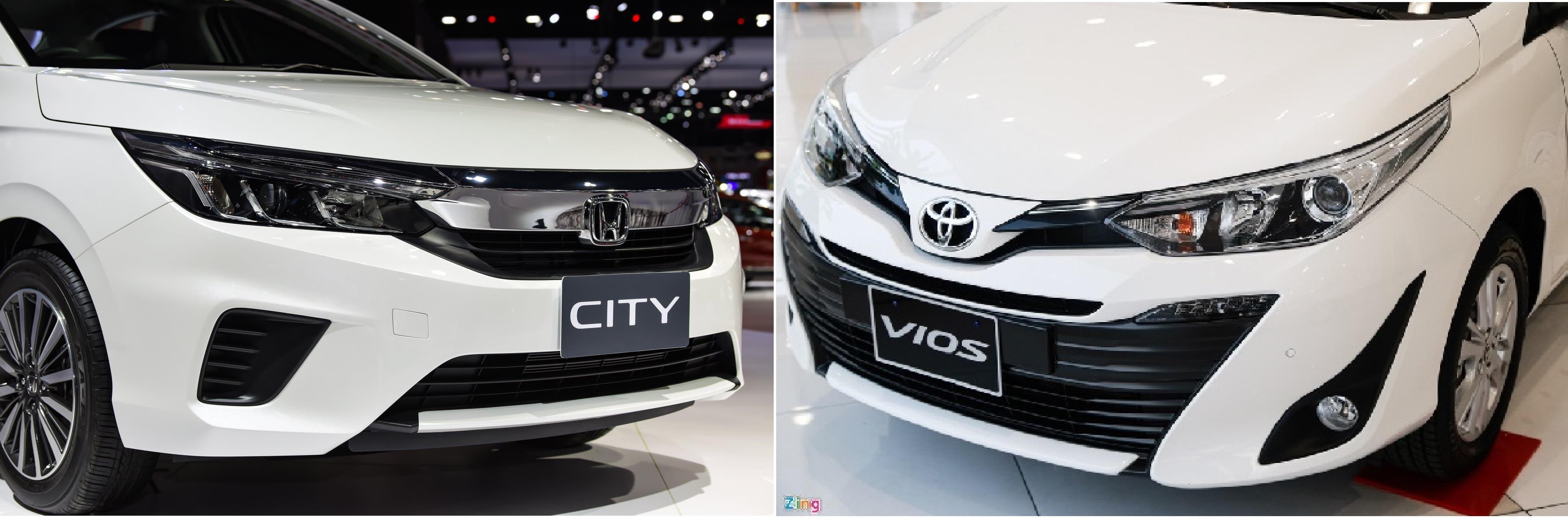 So sánh Honda City và Toyota Vios 2020