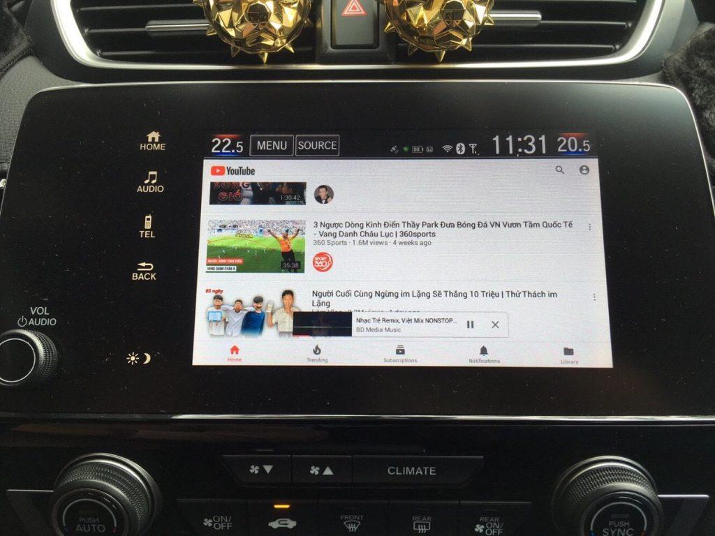 Hack màn hình Honda Crv 202