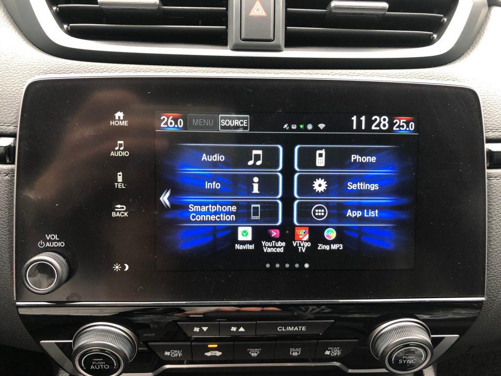 Hack màn hình Honda Crv 2021